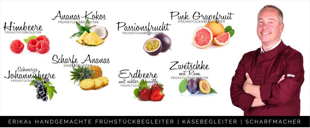 Titelbild ERIKA Marmeladen Fruchtaufstrich Andreas Dolezal Sorten